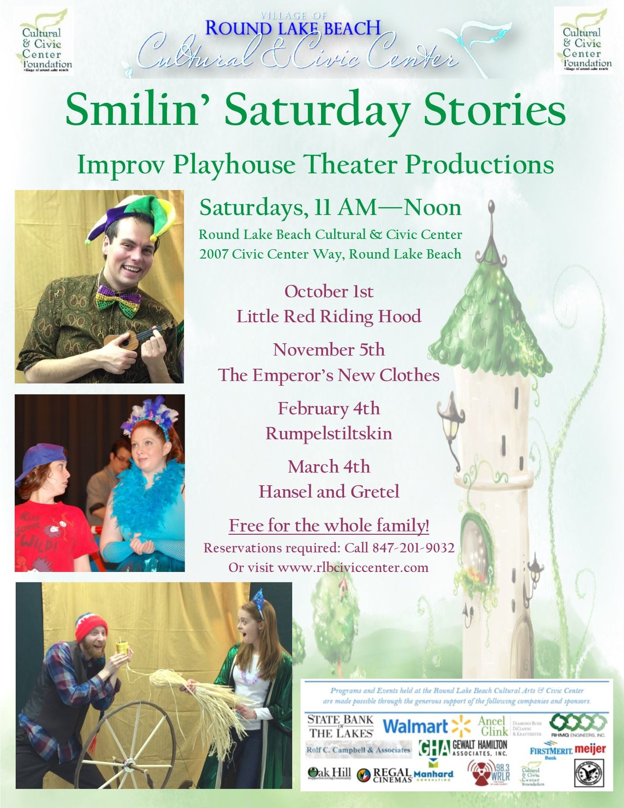 Smilin Saturday Stories flyer